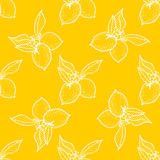 Seamless pattern ,lemon background with yellow and white elements, geometric design. Vector illustration Royalty Free Stock Photography