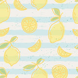Seamless pattern with lemon fruits Stock Photos