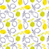 Seamless pattern with lemon fruits Stock Image