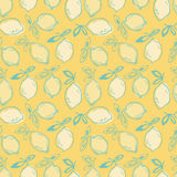 Seamless pattern with lemon fruits Royalty Free Stock Photo