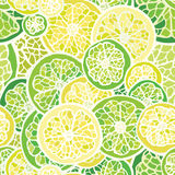 Seamless pattern with lemon and lime Royalty Free Stock Photo