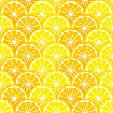 Seamless pattern with lemon and orange slices Royalty Free Stock Photos