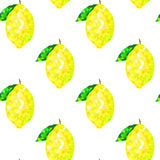 Seamless pattern with lemon triangles on a white background, abstract Stock Image