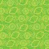 Seamless pattern from lemons Royalty Free Stock Photos