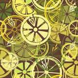 Seamless pattern with lemons Stock Photo