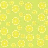 Seamless pattern lemons with half stock photography