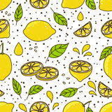 Seamless pattern with lemons. Seamless pattern with juicy lemons Royalty Free Stock Photography