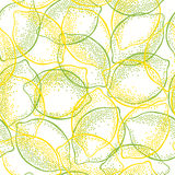 Seamless pattern with  lemons and limes . Royalty Free Stock Image