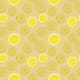 Seamless pattern with lemons Royalty Free Stock Photos