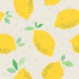 Seamless pattern with lemons. Vector illustration Stock Image
