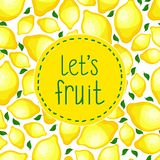 Seamless pattern of lemons, vector illustration. Stock Images