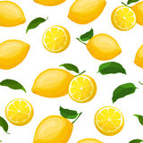Seamless pattern with lemons Royalty Free Stock Images