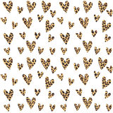 Seamless pattern with leopard hearts, trendy design,  Royalty Free Stock Photos