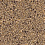 Seamless pattern of leopard skin stock illustration
