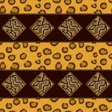 Seamless pattern with leopard skin Stock Photos