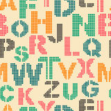 Seamless pattern with letters of the alphabet Royalty Free Stock Images