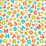 Seamless pattern with letters of alphabet Royalty Free Stock Photography