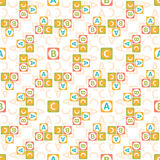 Seamless pattern of letters Stock Images
