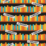 Seamless pattern with a library Stock Image