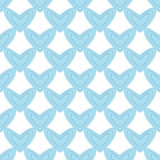 Seamless pattern with light blue hearts Royalty Free Stock Photography