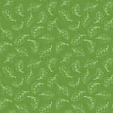 Seamless pattern with light green leaves Stock Photography