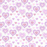 Seamless pattern with light pink hearts Royalty Free Stock Image