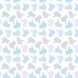 Seamless Pattern. Light Thumb Up Icons. Royalty Free Stock Image