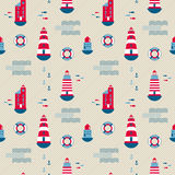 Seamless pattern, lighthouses Royalty Free Stock Image