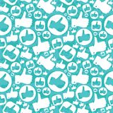 Seamless pattern with like signs Royalty Free Stock Image