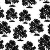 Lilac Bush Seamless Stock Images