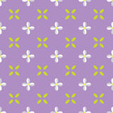 Seamless pattern with lilac flower and leaf. Stock Photo