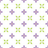 Seamless pattern with lilac flower and leaf. Royalty Free Stock Photos