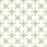 Seamless pattern with lilac flower and leaf. Royalty Free Stock Image