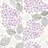 Seamless pattern with lilac flowers. Vector illustration. Royalty Free Stock Photography