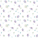 Seamless pattern with  lilac roses and some floral elements. Royalty Free Stock Photos