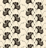 Seamless pattern with lilies Stock Photography