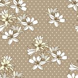 Seamless pattern of lilies Stock Image