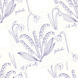 Seamless pattern with lilies of the valley Royalty Free Stock Photography