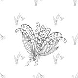 Seamless pattern with lilies of the valley Stock Image