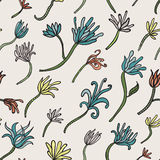 Seamless pattern with lily Stock Photos