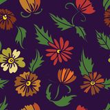 Seamless pattern with lily Stock Photography