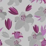 Lily pattern stock illustration