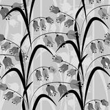 Seamless pattern with lily of the valley flowers illustration Stock Image