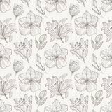 Seamless pattern with lily Royalty Free Stock Photos