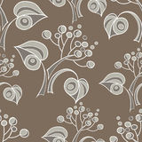 Seamless pattern with linden Stock Images