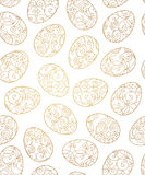 Seamless pattern with line art Easter eggs. Royalty Free Stock Image