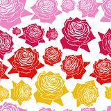 Seamless  pattern line roses Royalty Free Stock Photography