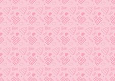 Seamless pattern in line style icon with baby toys theme fully editable resizable vector in soft pink color stock illustration
