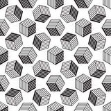 Seamless pattern with line style isometric cubes Stock Image
