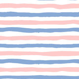 Seamless pattern lines in color 2016 rose quartz and serenity Stock Photography